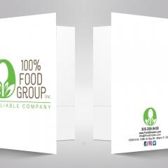 100 % Food Group Presentation Folder
