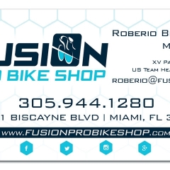 Fusion Bike Shop Business Cards